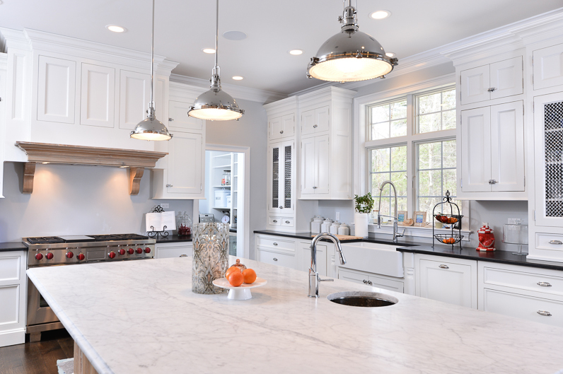 Hamptons White Kitchen Island
