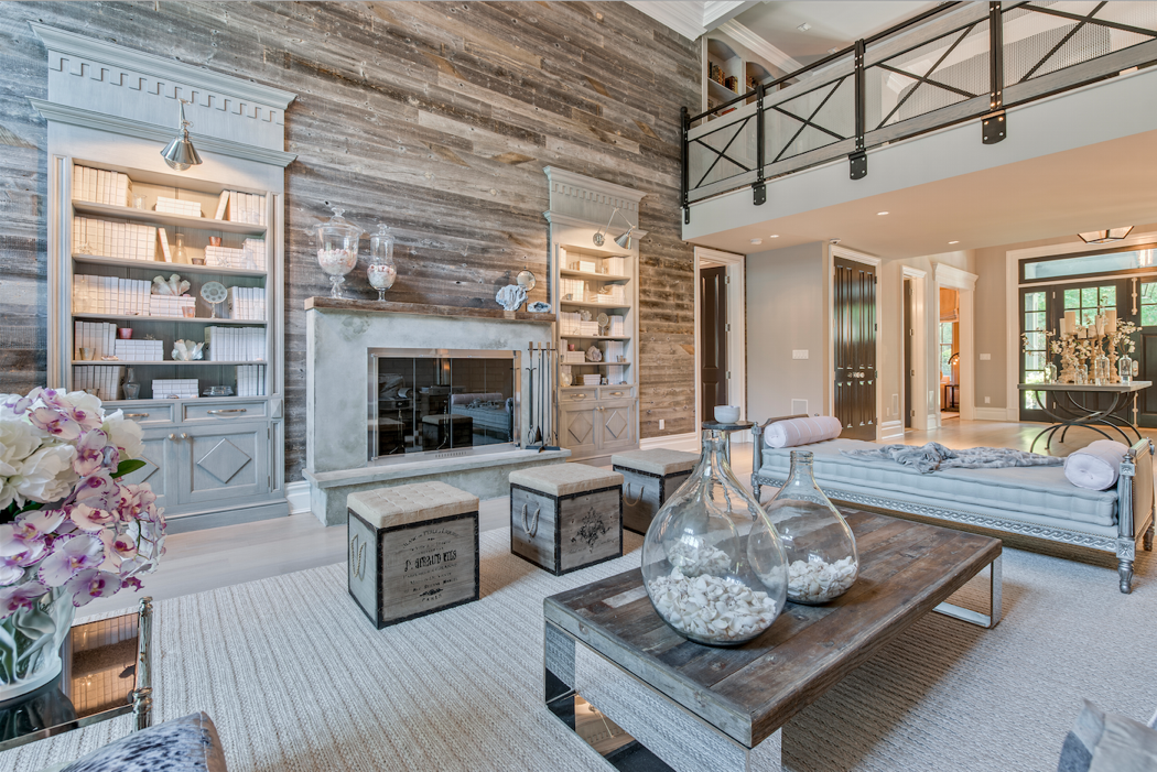 Hamptons Living Room Fireplace
